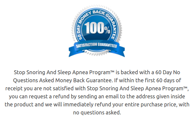 The Stop Snoring and Sleep Apnea Program testimonials