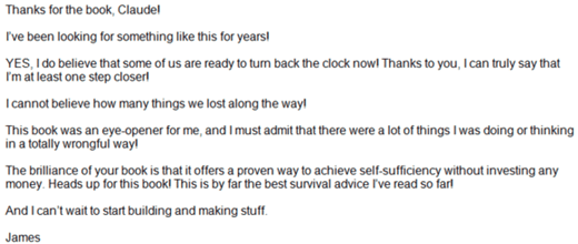The lost ways testimonial